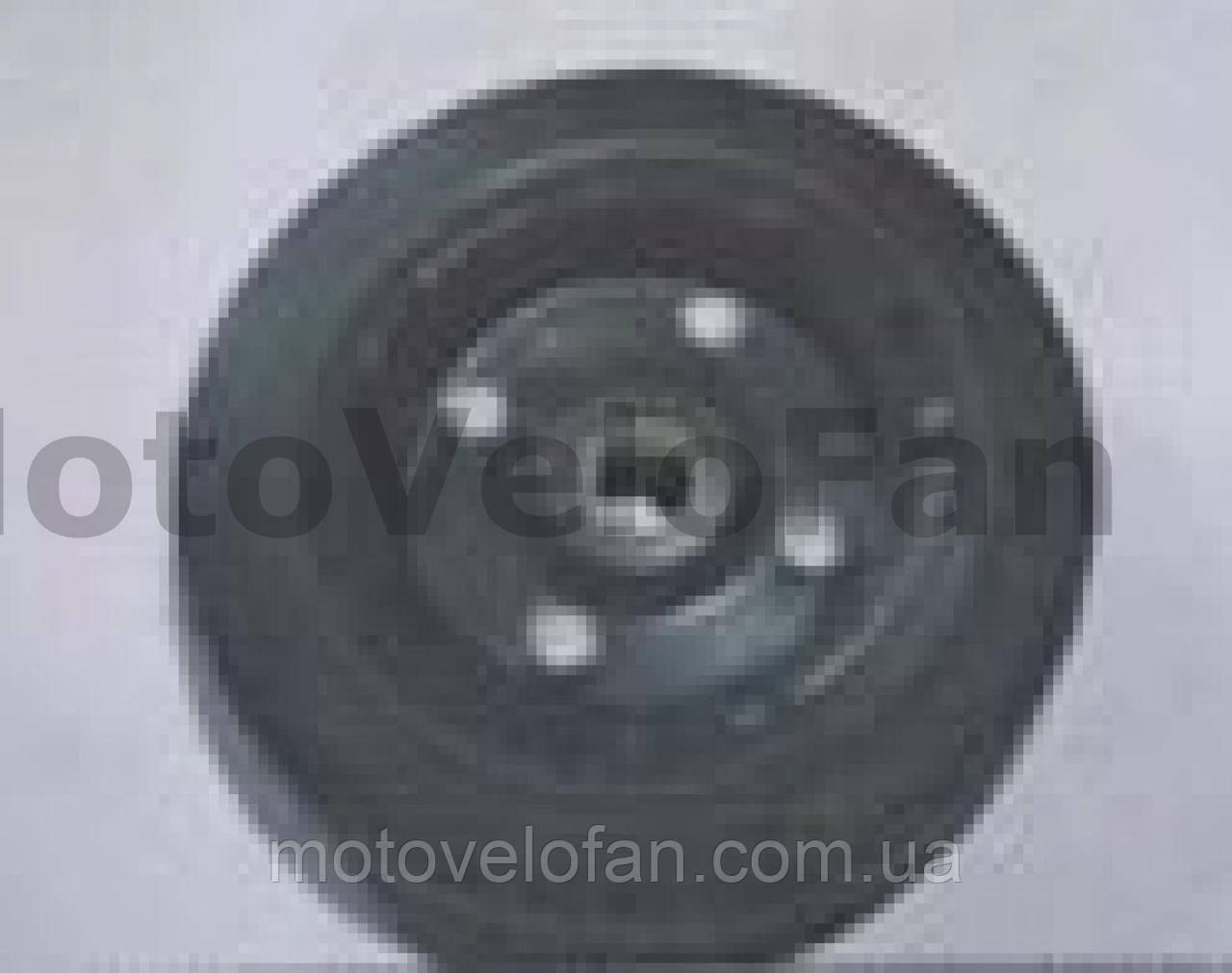 Колесо для тачек и платформ (литая резина)   (180/50- 100mm, под ось 20mm) (1 подшипник, 4 болта)   MRHD