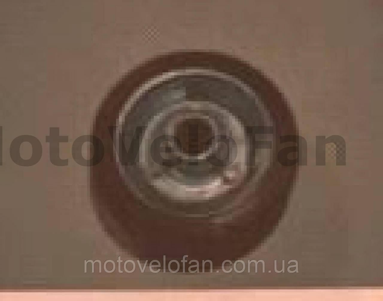 Колесо для тачек и платформ (литая резина)   (75/25- 45mm, игольчатый подшипник)   MRHD