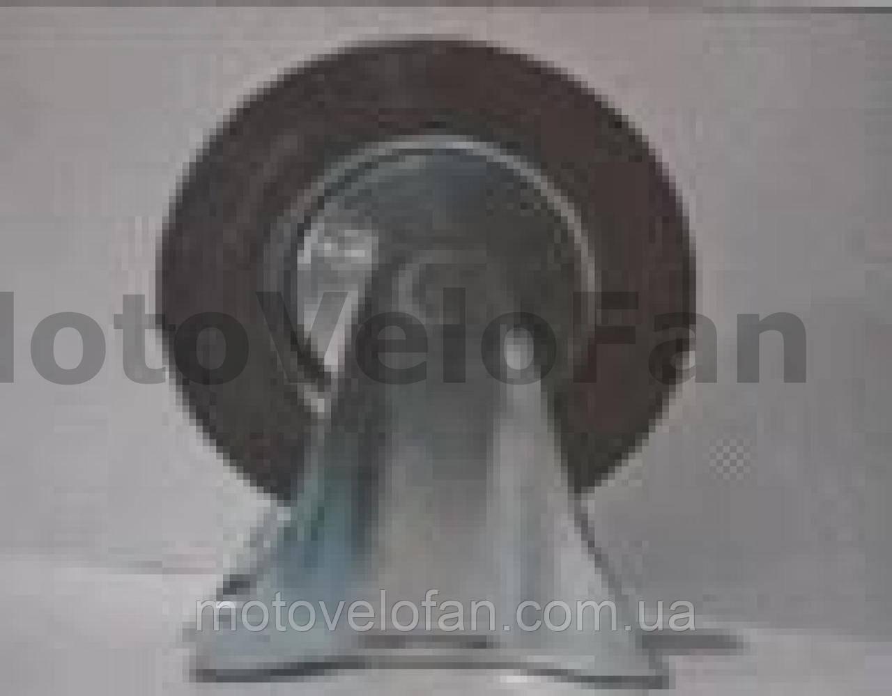 Колесо для тачек и платформ (литая резина) (в сборе с креплением, прямое)   (160/40-80mm)   MRHD