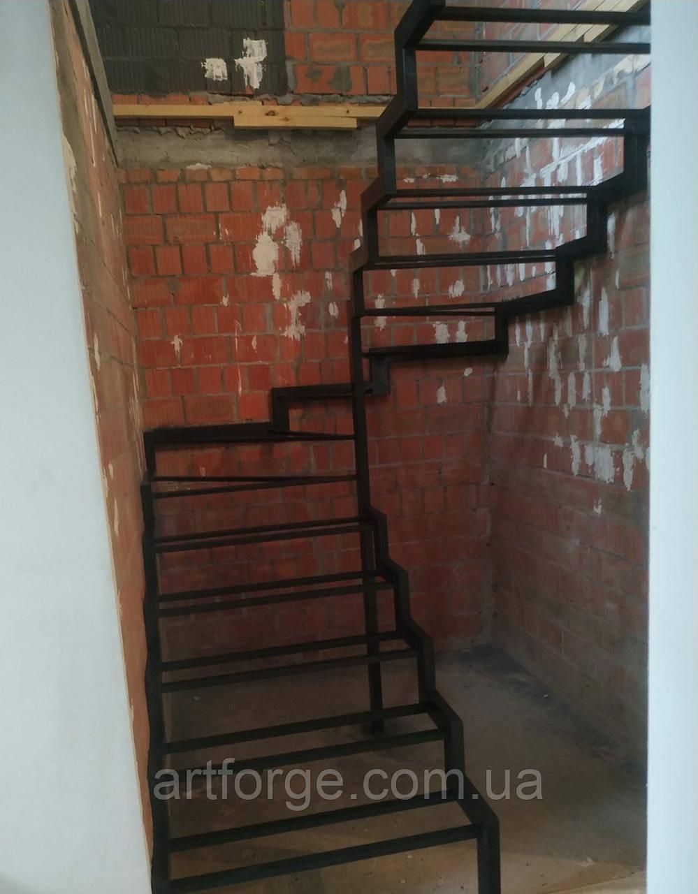 Каркас для открытой лестницы в современном стиле лофт для квартиры, дома, дачи.