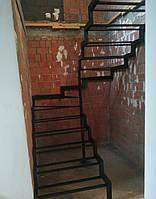 Каркас для открытой лестницы в современном стиле лофт для квартиры, дома, дачи., фото 1