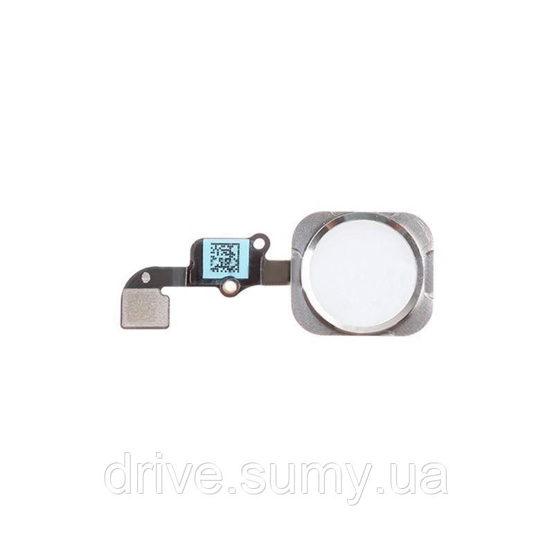 Шлейф with button Home iPhone 6 Silver (Compleate)