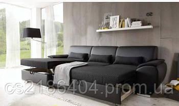 Кутовий розкладний диван-ліжко у вмсокоякісній миючій тканині Ramon