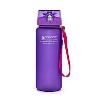 Стильная спортивная бутылка для воды с дозатором POWCAN, фиолетовая