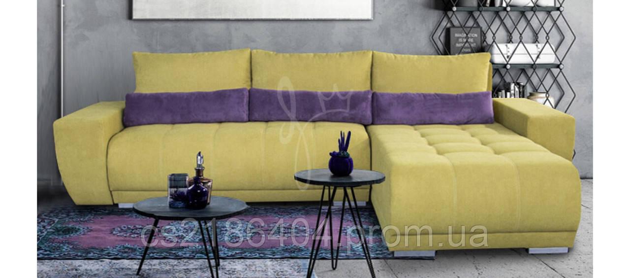 Дкутовий розкладний диван-ліжко в яскравій комбінованій тканиніCAMARO