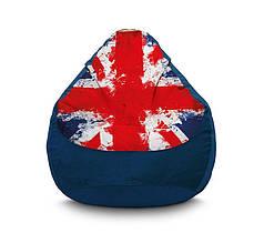 """Крісло мішок """"Британський прапор"""" blue"""