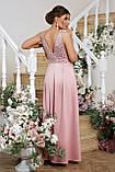 Платье вечернее атласное лиловое Мэйси, фото 3