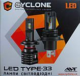 Лампа LED Cyclone H4 type-33 5000k 4600Lm, фото 5