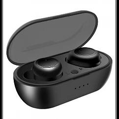 Беспроводные стерео наушники YESPLUS TWS02 Bluetooth + бокс ЧЁРНЫЕ