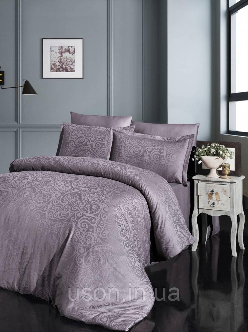Комплект  постельного белья  жаккард superior bamboo TM First Choice  200*220 Greta Leylak