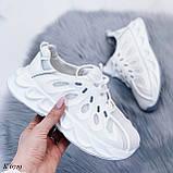 Жіночі білі кросівки текстиль, фото 2
