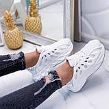 Жіночі білі кросівки текстиль, фото 3