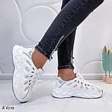 Жіночі білі кросівки текстиль, фото 5
