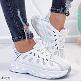 Жіночі білі кросівки текстиль, фото 6