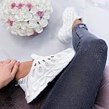 Жіночі білі кросівки текстиль, фото 7