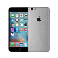Виниловая наклейка для iPhone 6s алюминий шлифованный металл. Чехол для задней поверхности телефона