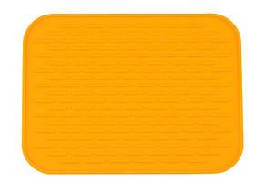 Силиконовый коврик для сушки посуды 22Х16 см, оранжевый