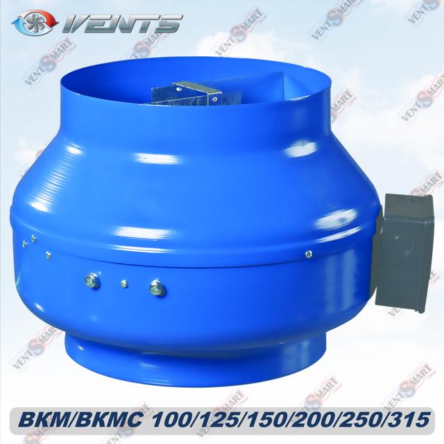 Внешний вид круглого канального центробежного вентилятора ВЕНТС ВКМ