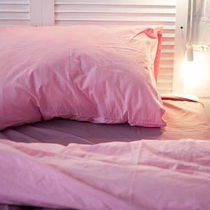 Простынь Хлопковые традиции двуспальная 180*225 см поплин виолет/розовый арт.PF26, фото 2