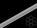 Трос стальной оцинкованный DIN 3052 1mm (1x7) (бухта 200 м)