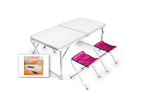 Набор стол складной и стулья (1+4) 1200х600х700 TABLE-004