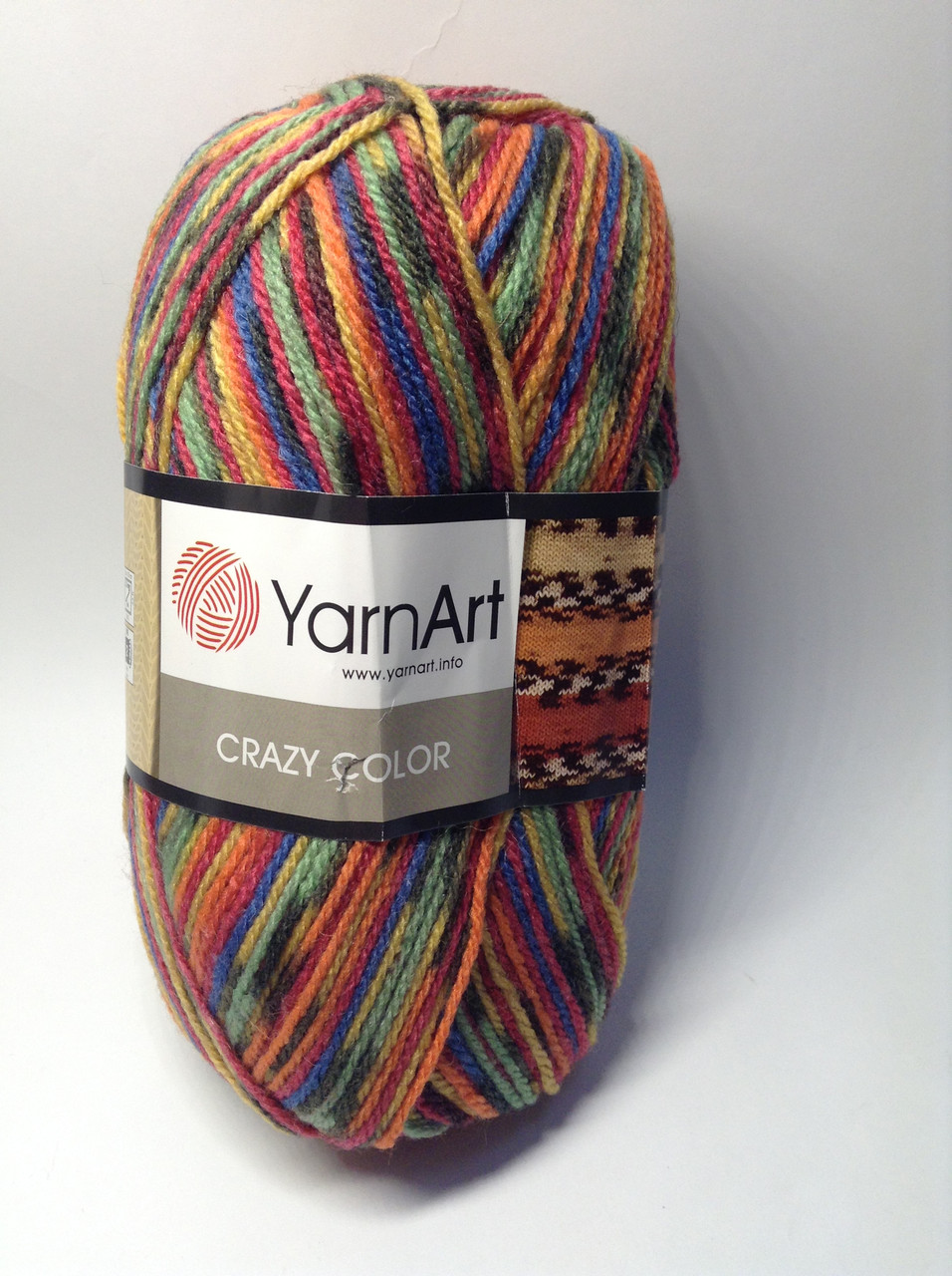 Пряжа Crazy color YarnArt (25% шерсть)