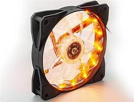 Вентилятор Frime Iris LED Fan 15LED Yellow (FLF-HB120Y15)