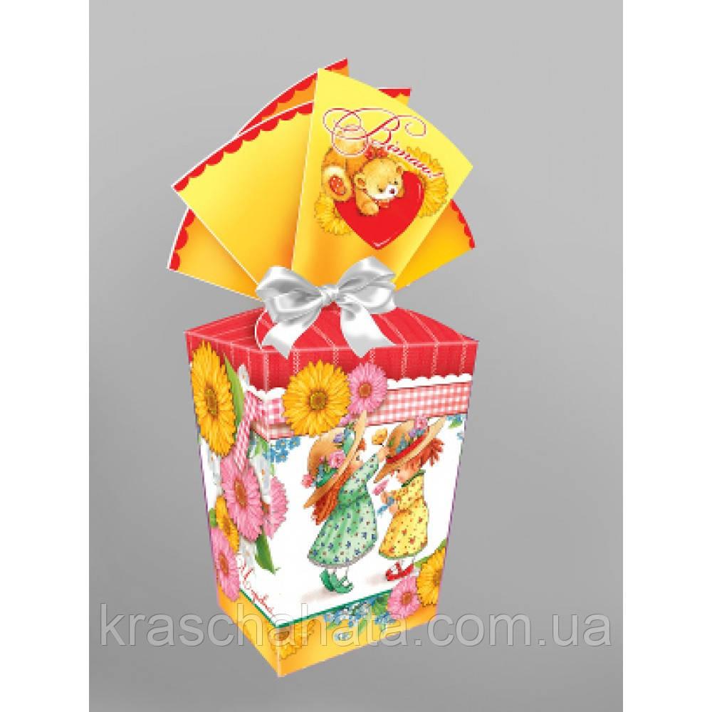Подарочная коробка для конфет,  300 гр, Картонная упаковка для конфет, Днепр