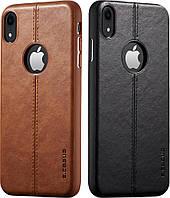 Чехол кожаный iPhone XR Casus (Айфон ХР Икс Эр)