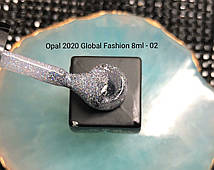 Гель-лак c с блёстками Global Fashion Opal №02