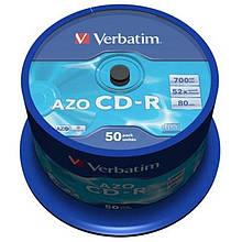 CD-R Verbatim (43343) 700MB 52x Cake, 50шт Crystal
