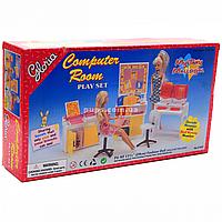 Детская игрушечная мебель Глория Gloria для кукол Барби для компьютерного класса (21022)