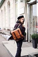 Практичный женский рюкзак из натуральной кожи | Жіночий шкіряний ранець