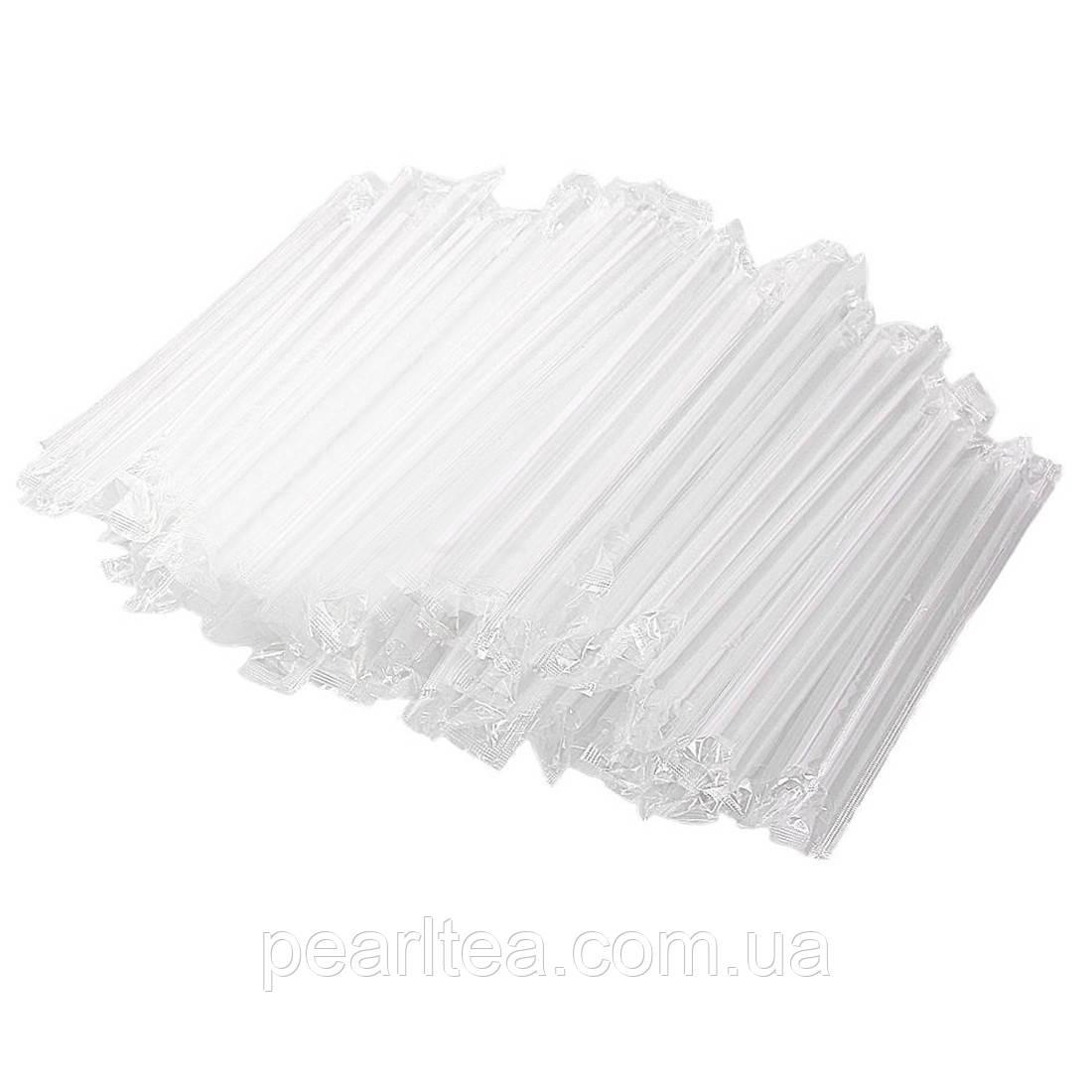 Прозрачные трубочки в индивидуальной упаковке для BUBLE TEA 23 см.