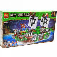 Конструктор BELA Minecraft Майнкрафт «Битва на реке», 630 дет. (11139)
