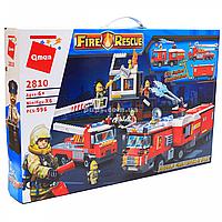 Конструктор Qman «Пожарные машины», 996 деталей (2810)