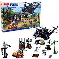 Конструктор Sluban «Полиция» - вертолет, машина, фигурки, 830 деталей (M38-B0775)