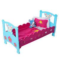 Кроватка для пупса Речі для малечіM 3836-07 с постелькой и различными аксессуарами