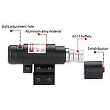 ЛЦУ Тактичний червоний точковий лазер на планку 11-20 мм Fire Wols, фото 5