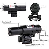 ЛЦУ Тактичний червоний точковий лазер на планку 11-20 мм Fire Wols, фото 6
