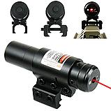 ЛЦУ Тактичний червоний точковий лазер на планку 11-20 мм Fire Wols, фото 3