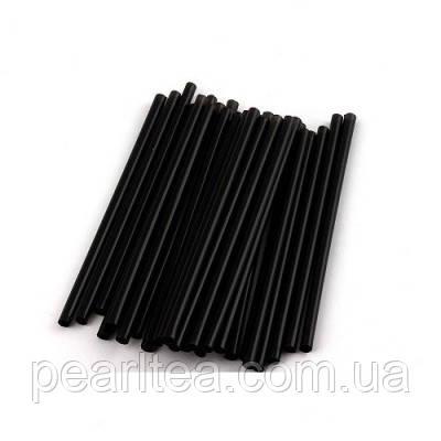 Черные Трубочки в индивидуальной упаковке для BUBLE TEA 23 см.