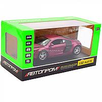 Машинка игровая автопром «Audi R8» металл, 13 см, фиолетовый, свет, звук, двери открываются (3201D), фото 2