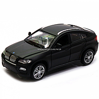 Машинка игровая автопром «BMW X6» джип, 14 см, черный, свет, звук, двери открываются (7860), фото 3