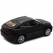 Машинка игровая автопром «BMW X6» джип, 14 см, черный, свет, звук, двери открываются (7860), фото 5