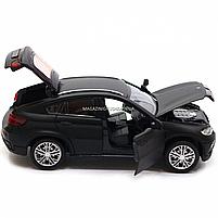 Машинка игровая автопром «BMW X6» джип, 14 см, черный, свет, звук, двери открываются (7860), фото 8
