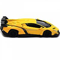 Машинка ігрова автопром «Lamborghini Veneno», 15 см, світло, звук, жовтий (7601), фото 5