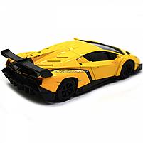 Машинка ігрова автопром «Lamborghini Veneno», 15 см, світло, звук, жовтий (7601), фото 6