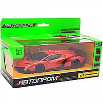 Машинка ігрова автопром «Lamborghini Veneno», 15 см, світло, звук, червоний (7601), фото 2
