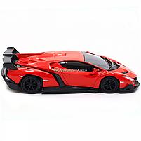 Машинка ігрова автопром «Lamborghini Veneno», 15 см, світло, звук, червоний (7601), фото 5